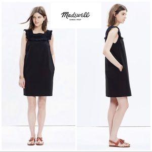 Madewell Sundream Fringe Shift Dress In Black